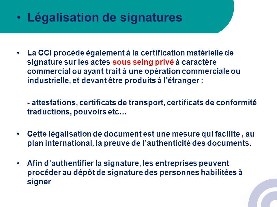 Légalisation de signatures