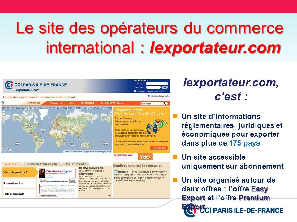 lexportateur.com, c'est :