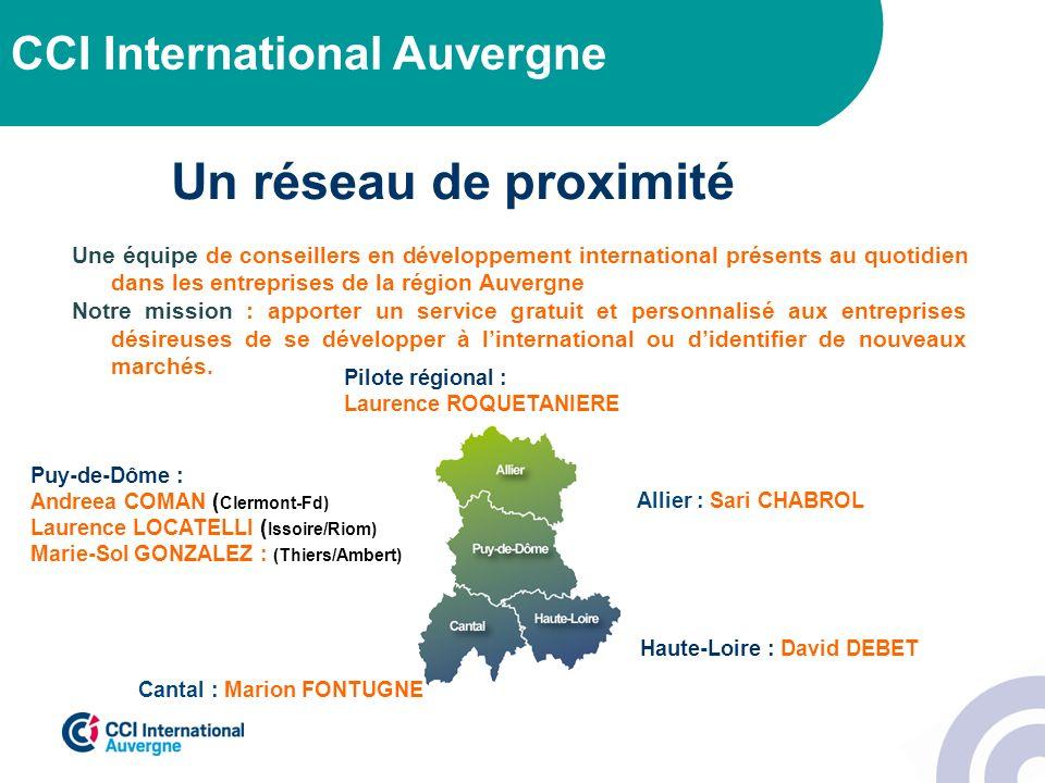 Un réseau de proximité CCI International Auvergne