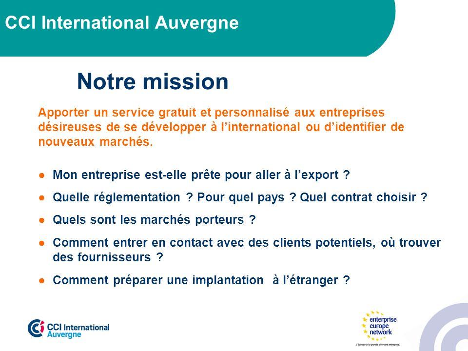 Notre mission CCI International Auvergne