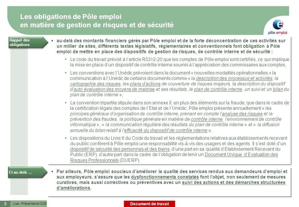 Les obligations de Pôle emploi en matière de gestion de risques et de sécurité