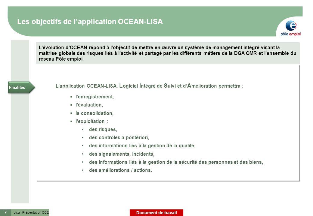 Les objectifs de l'application OCEAN-LISA