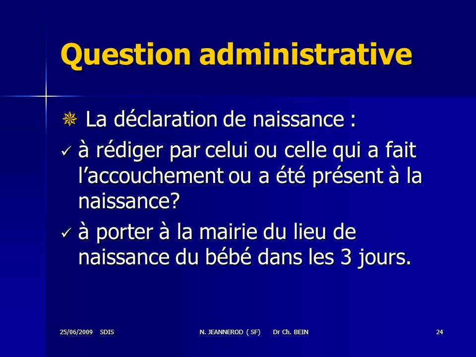 Question administrative