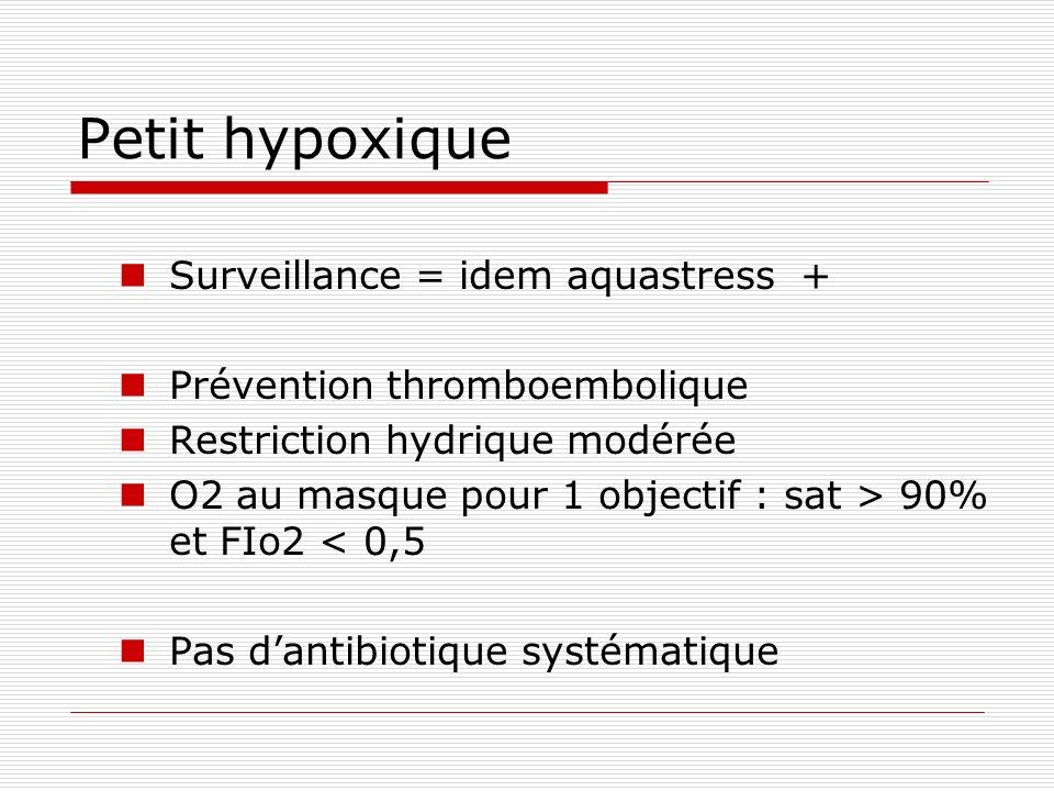 Petit hypoxique Surveillance = idem aquastress +