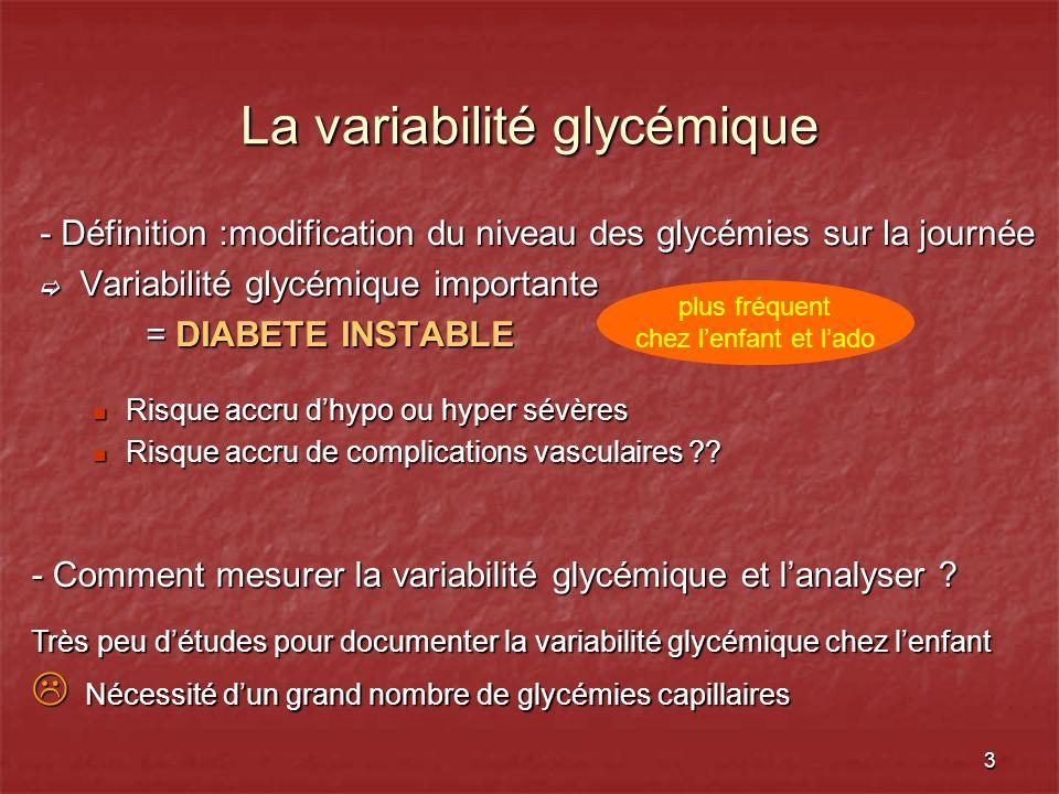 La variabilité glycémique