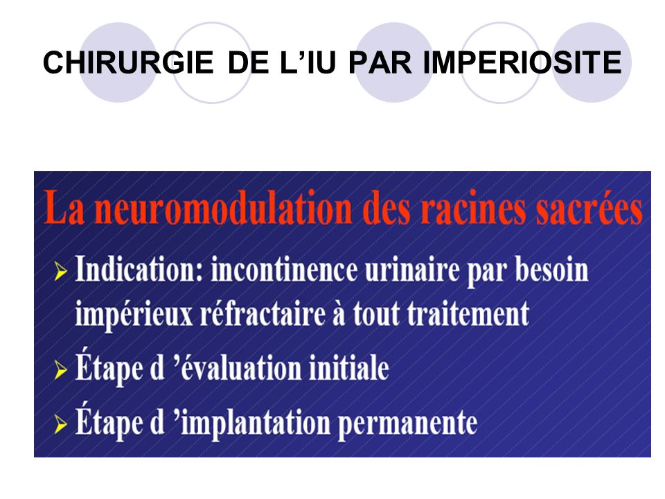 CHIRURGIE DE L'IU PAR IMPERIOSITE