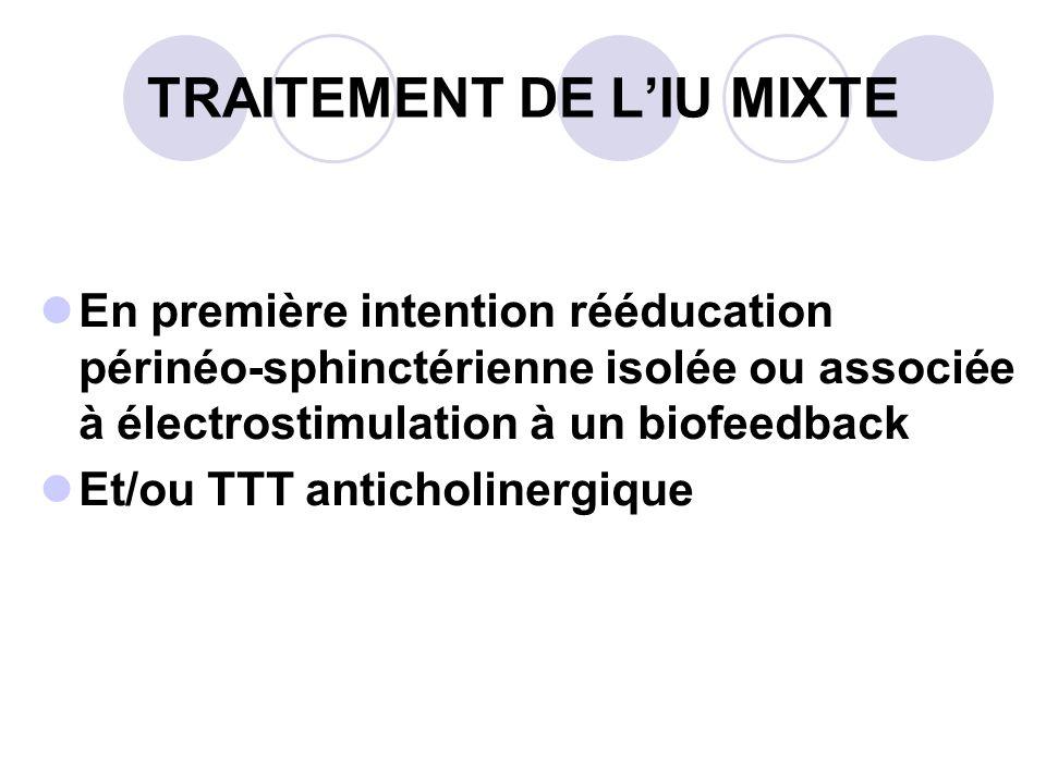 TRAITEMENT DE L'IU MIXTE