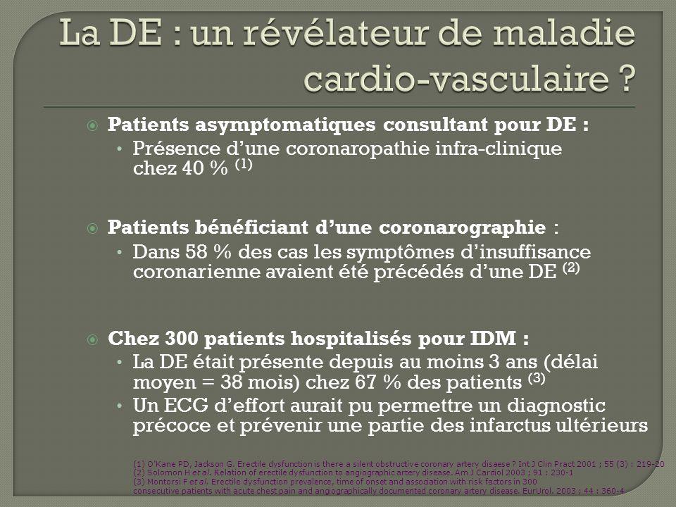 La DE : un révélateur de maladie cardio-vasculaire