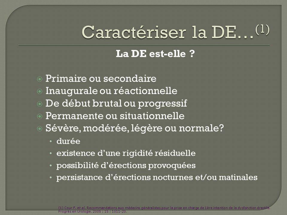 Caractériser la DE…(1) La DE est-elle Primaire ou secondaire
