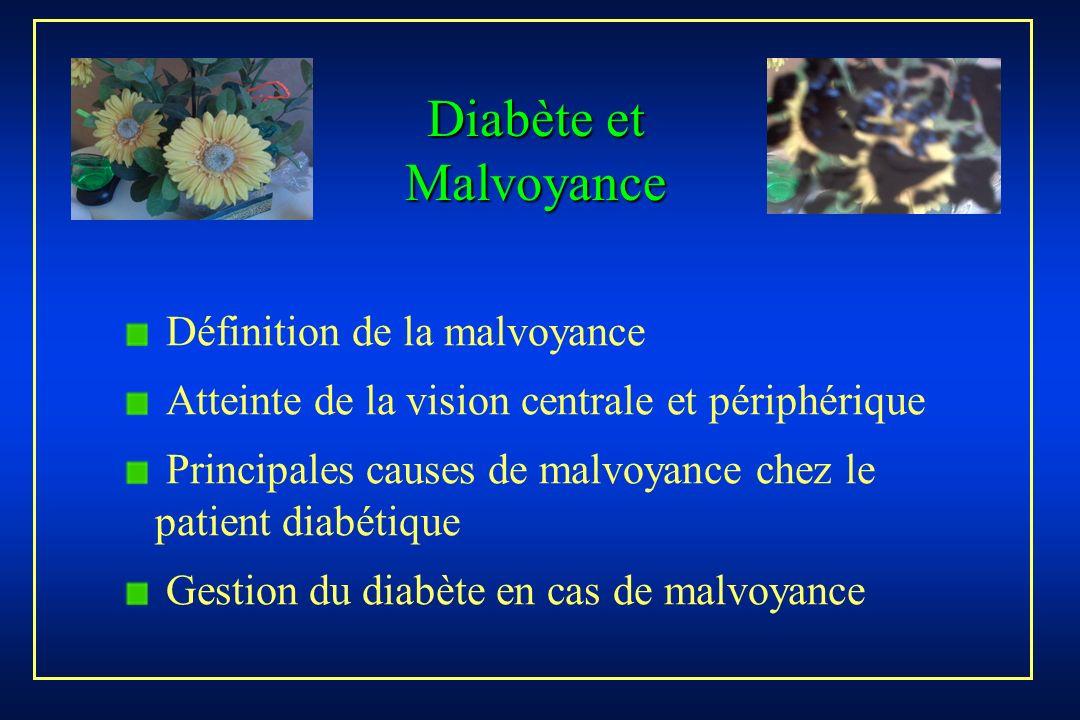 Diabète et Malvoyance Définition de la malvoyance