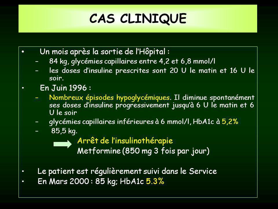 CAS CLINIQUE Un mois après la sortie de l'Hôpital : En Juin 1996 :