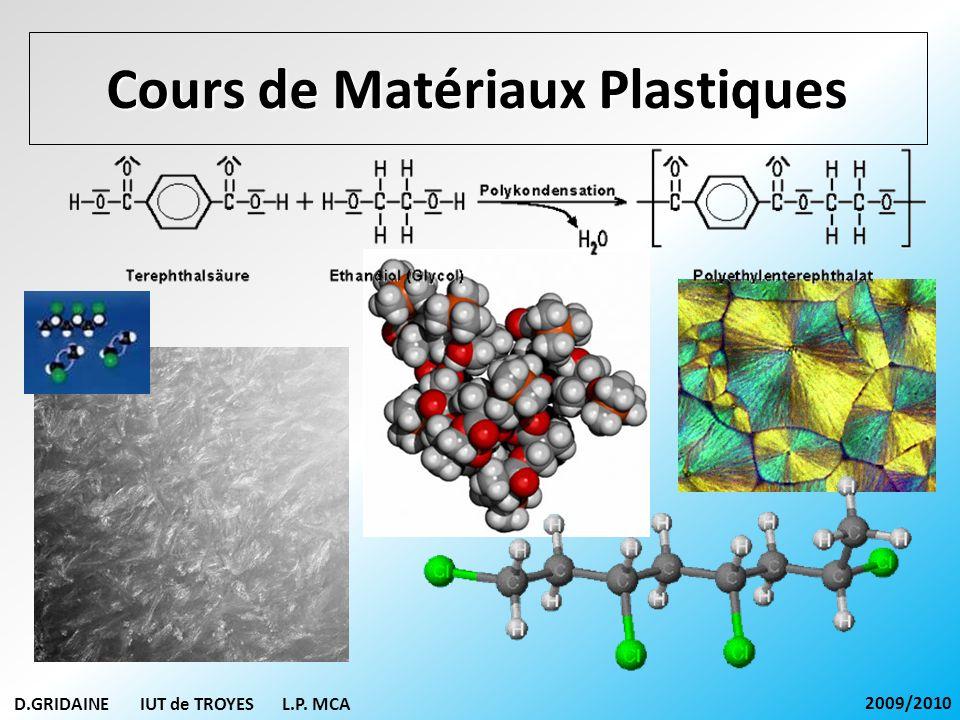 Cours de Matériaux Plastiques