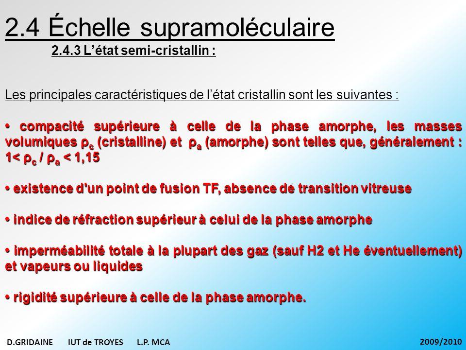 2.4 Échelle supramoléculaire