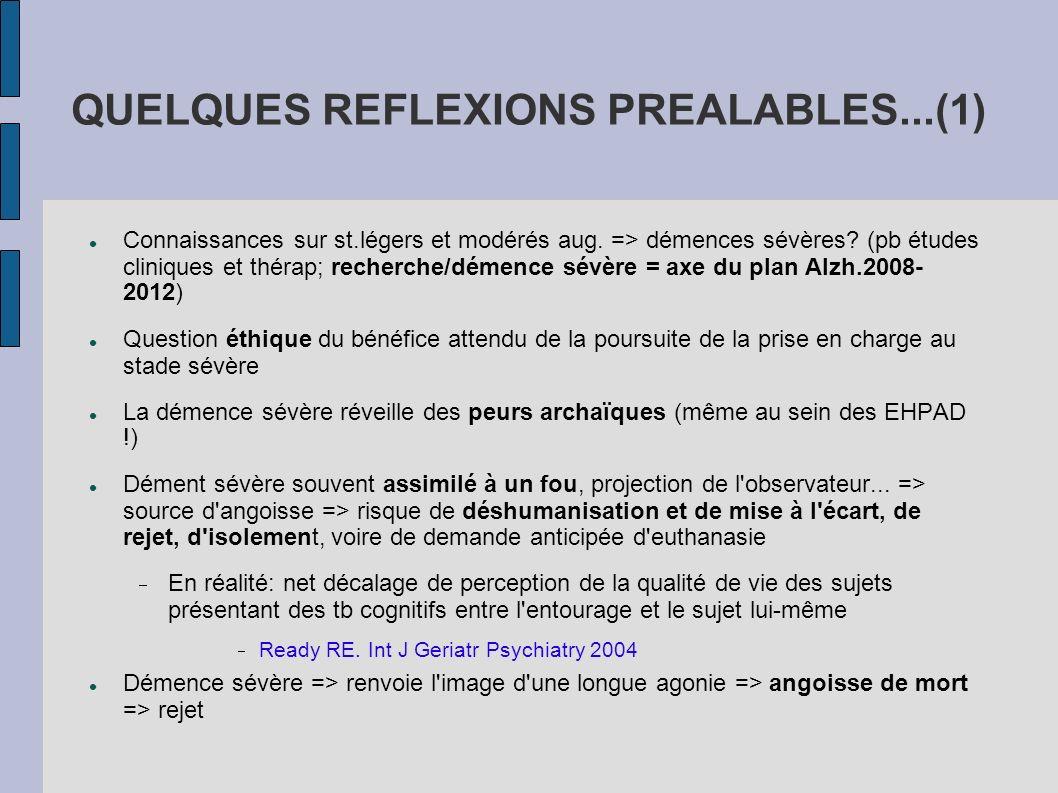 QUELQUES REFLEXIONS PREALABLES...(1)
