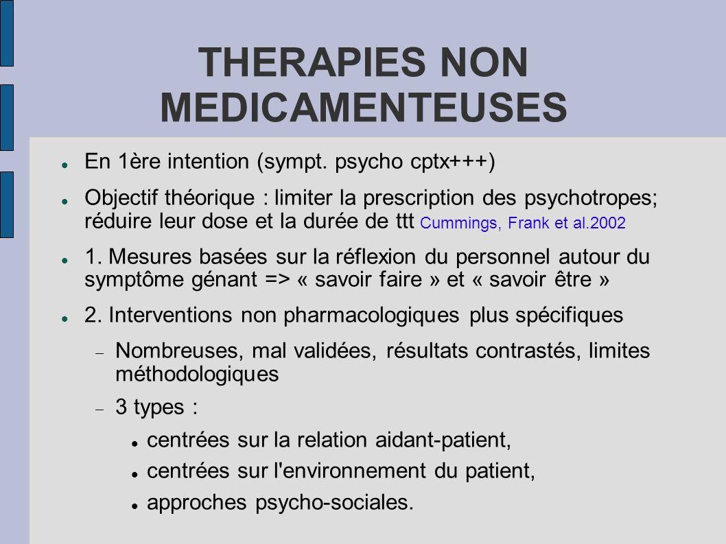 THERAPIES NON MEDICAMENTEUSES