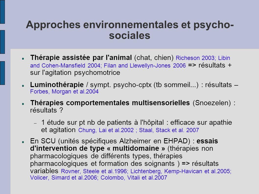 Approches environnementales et psycho-sociales