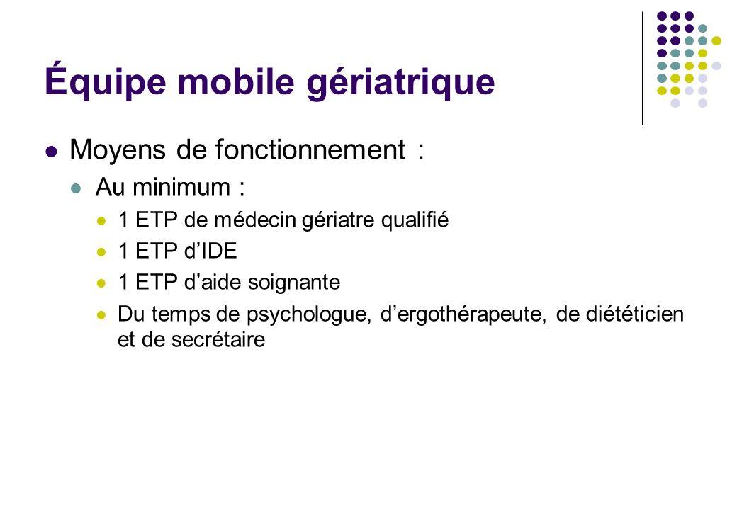 Équipe mobile gériatrique