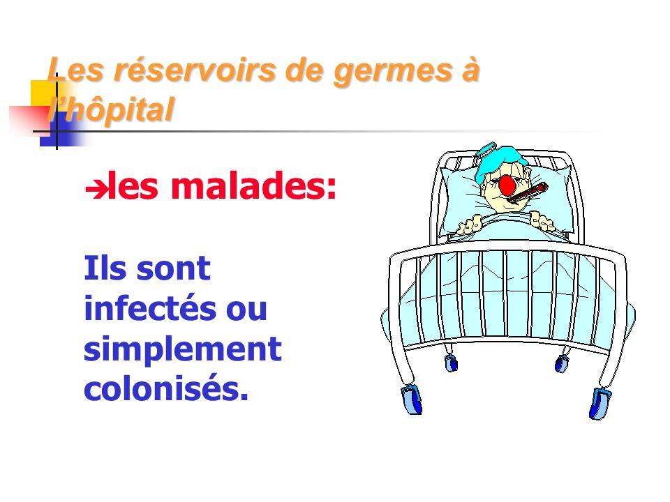les malades: Ils sont infectés ou simplement colonisés.