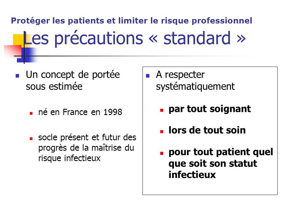 Les précautions « standard »