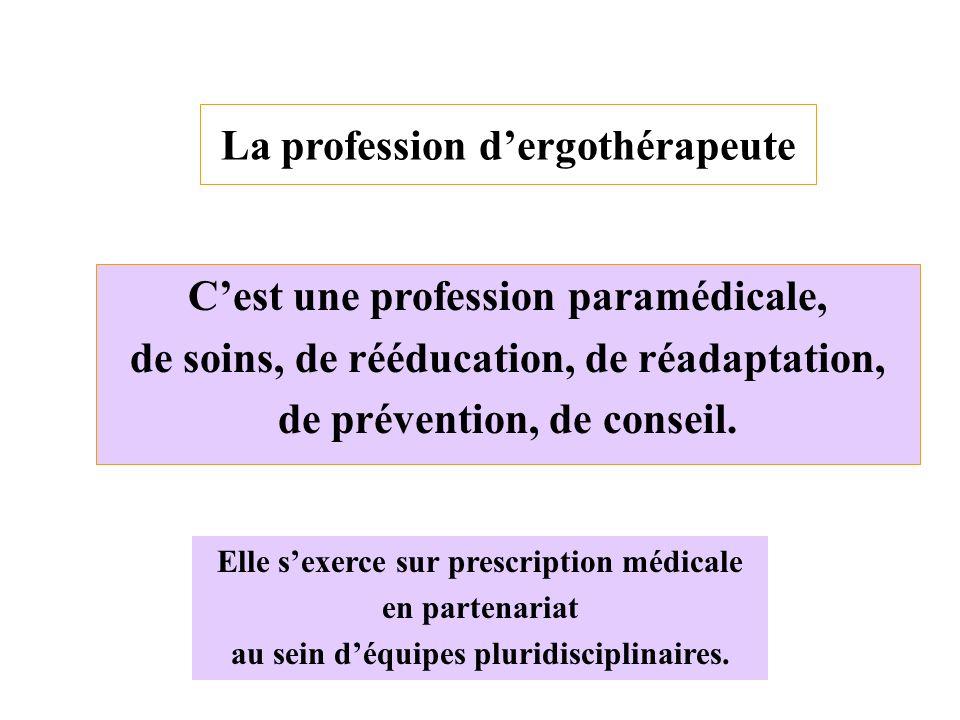 La profession d'ergothérapeute