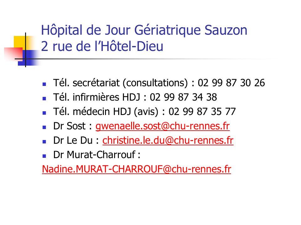 Hôpital de Jour Gériatrique Sauzon 2 rue de l'Hôtel-Dieu