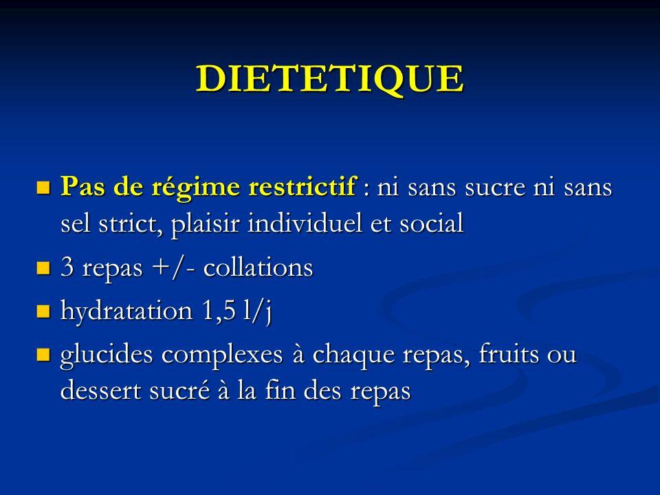 DIETETIQUE Pas de régime restrictif : ni sans sucre ni sans sel strict, plaisir individuel et social.