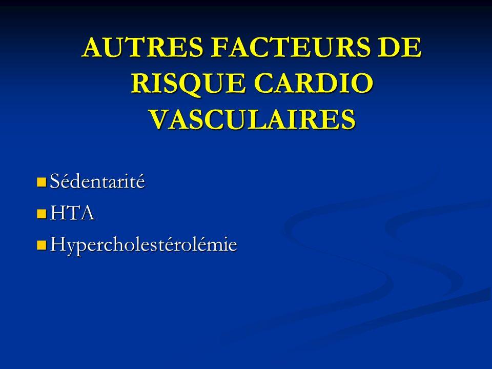 AUTRES FACTEURS DE RISQUE CARDIO VASCULAIRES