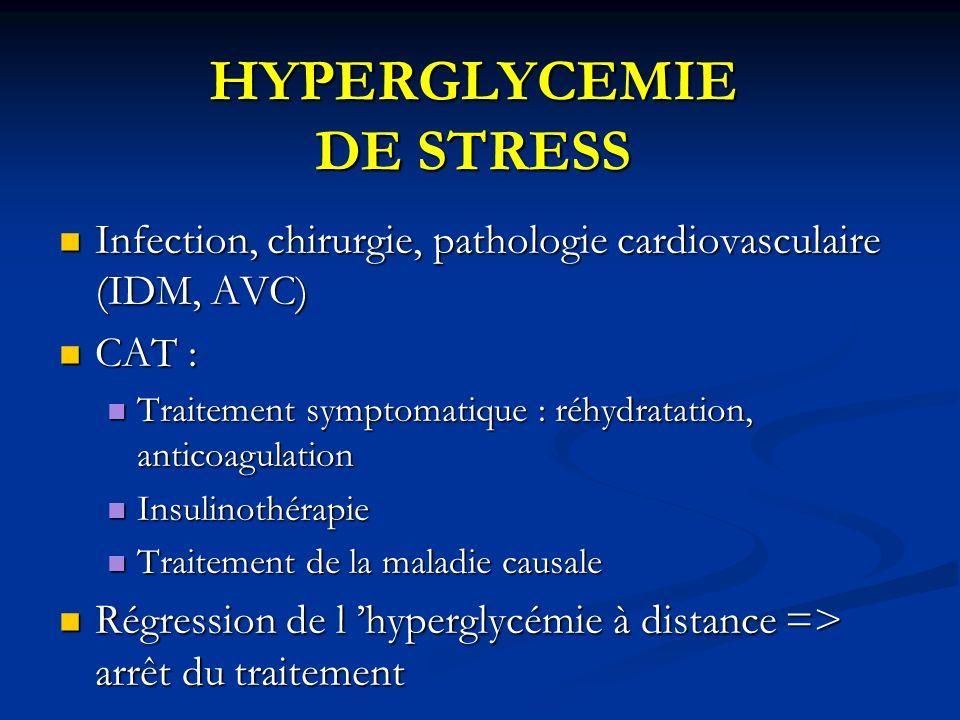 HYPERGLYCEMIE DE STRESS