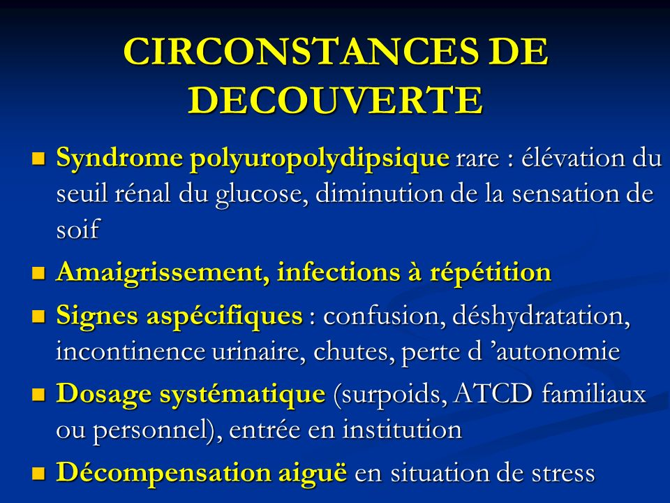 CIRCONSTANCES DE DECOUVERTE