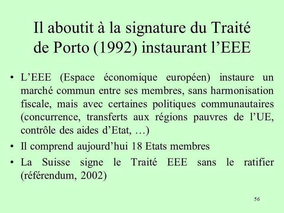 Il aboutit à la signature du Traité de Porto (1992) instaurant l'EEE
