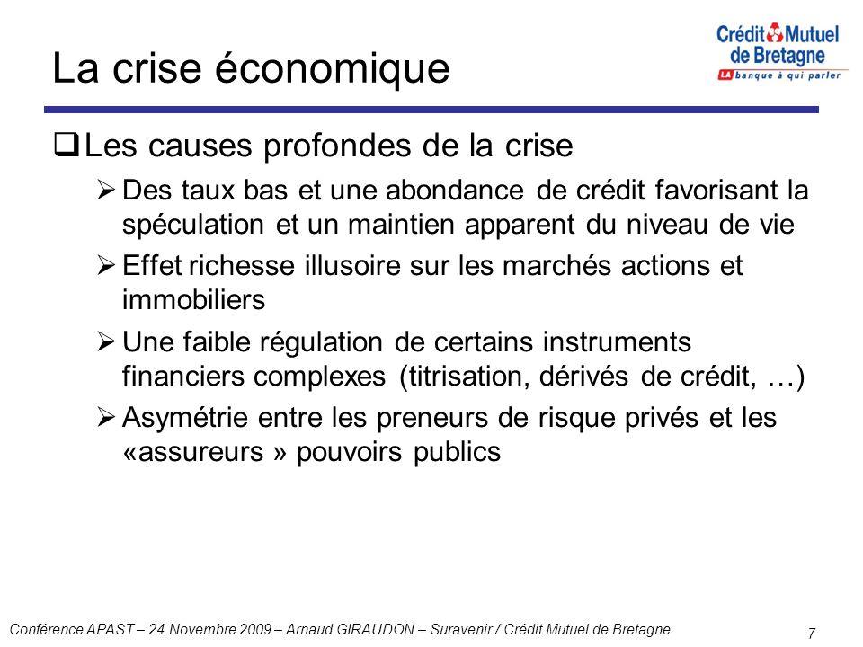 La crise économique Les causes profondes de la crise
