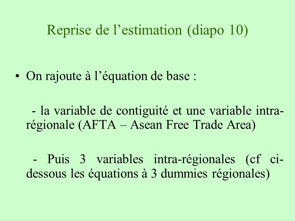 Reprise de l'estimation (diapo 10)