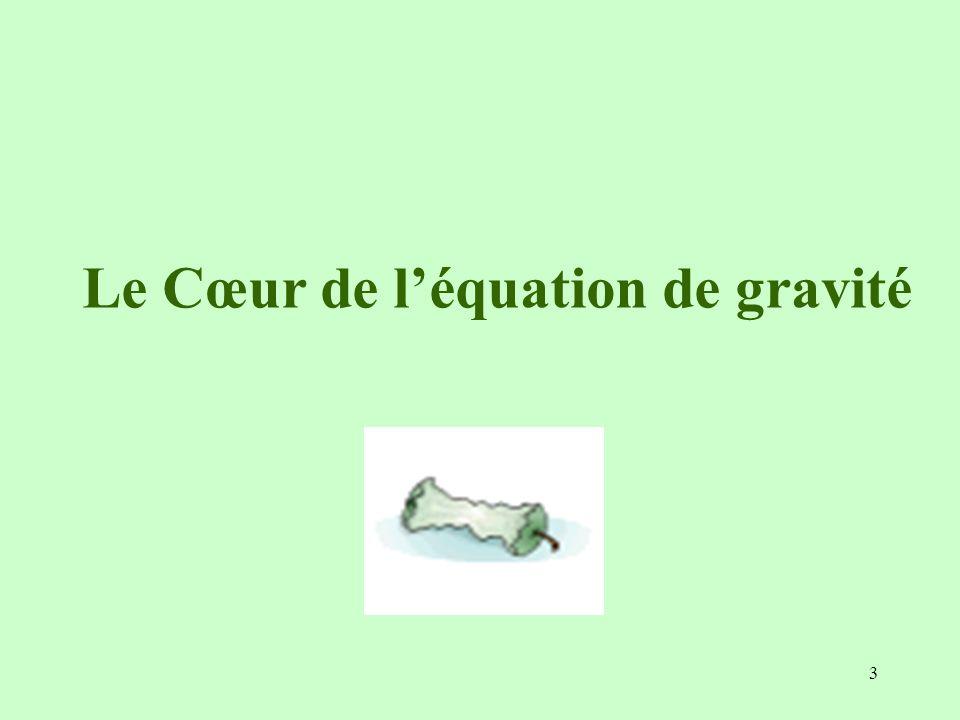 Le Cœur de l'équation de gravité
