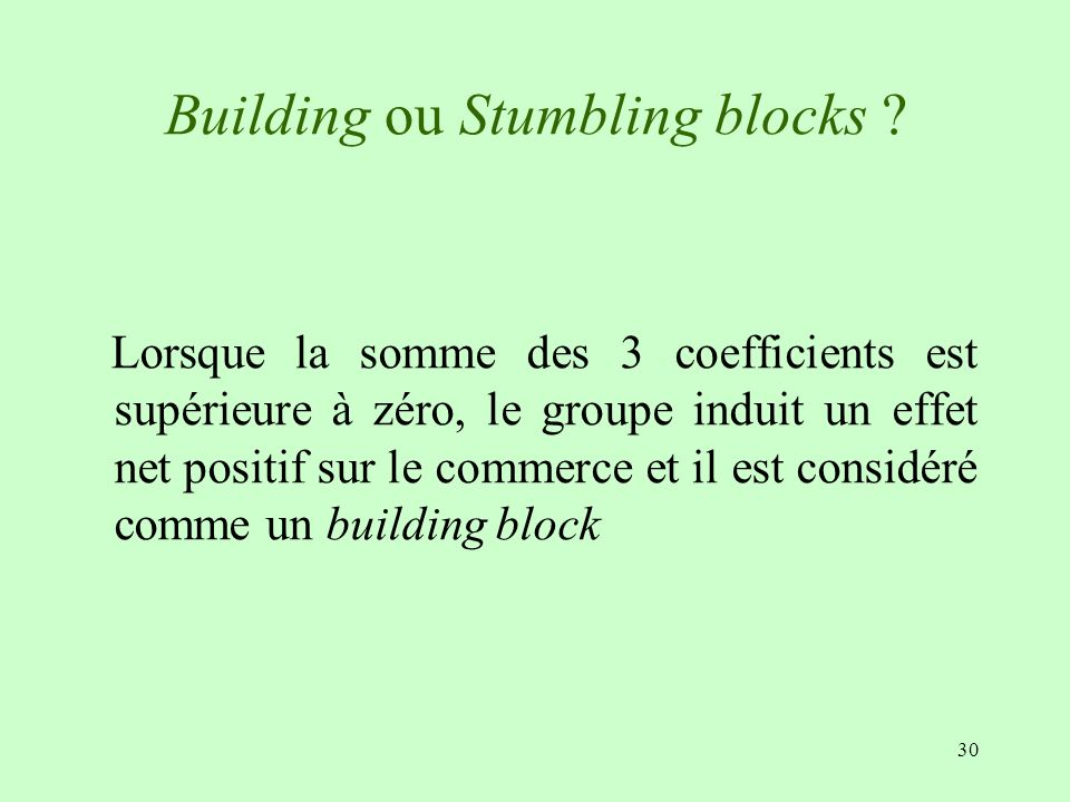 Building ou Stumbling blocks