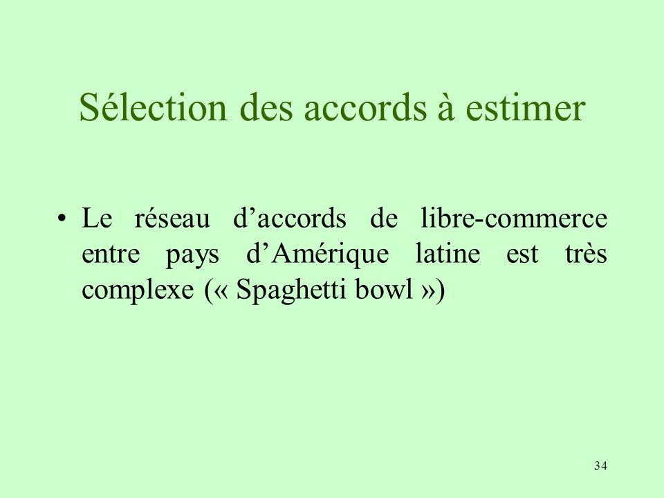 Sélection des accords à estimer