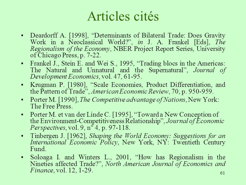 gravity equation in canada s trade pattern Anderson, je (1979) a theoretical foundation for the gravity equation the american economic review 69 (1): 106–116 anderson, je, van wincoop, e (2003.
