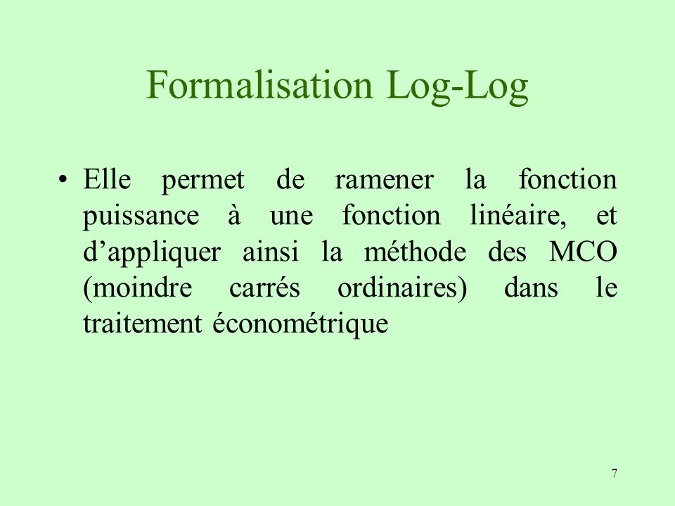Formalisation Log-Log
