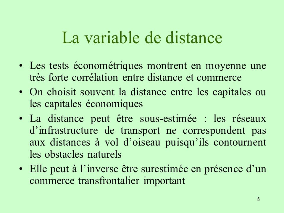 La variable de distance