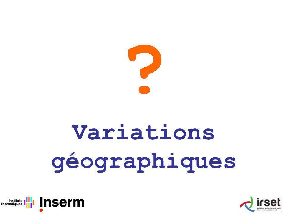 Variations géographiques