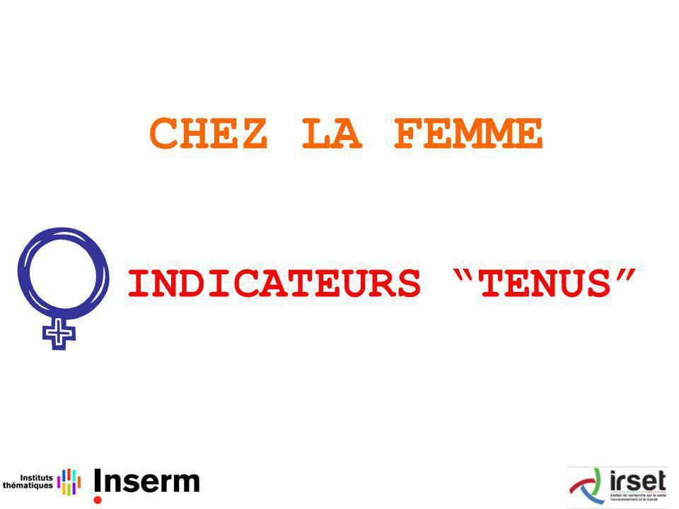 CHEZ LA FEMME INDICATEURS TENUS