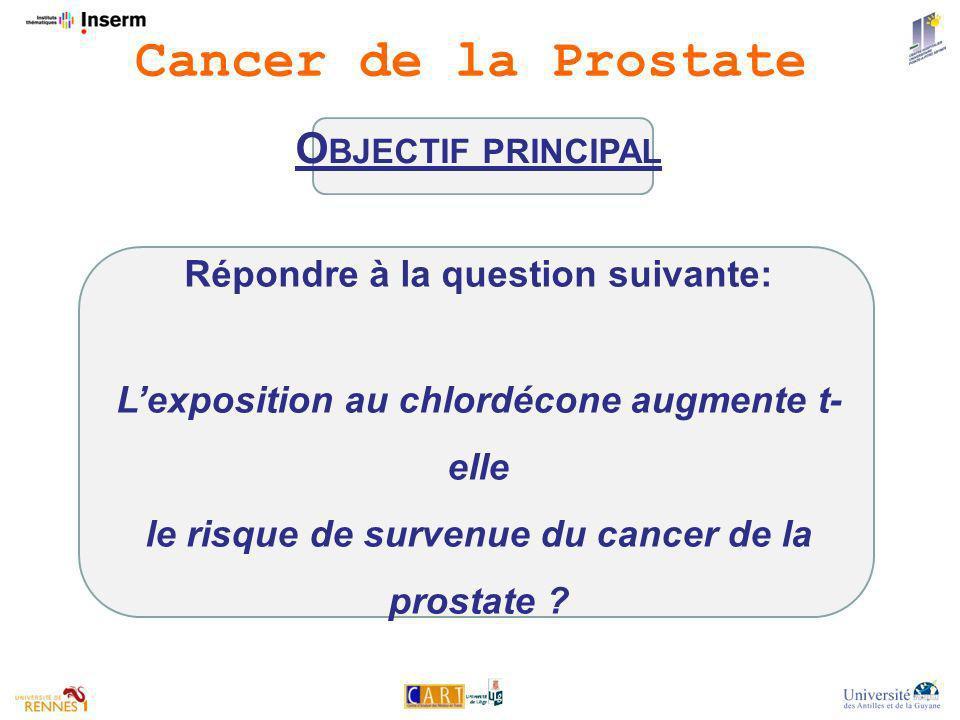 Cancer de la Prostate Objectif principal