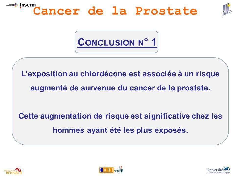 Cancer de la Prostate Conclusion n° 1