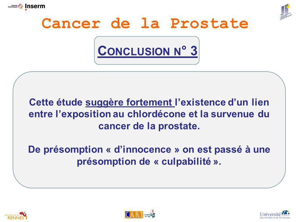 Cancer de la Prostate Conclusion n° 3