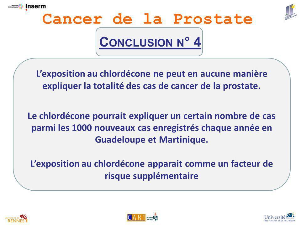 Cancer de la Prostate Conclusion n° 4