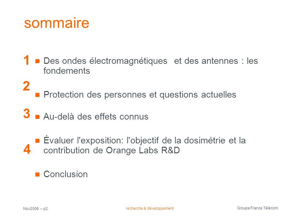 sommaire 1. Des ondes électromagnétiques et des antennes : les fondements. Protection des personnes et questions actuelles.
