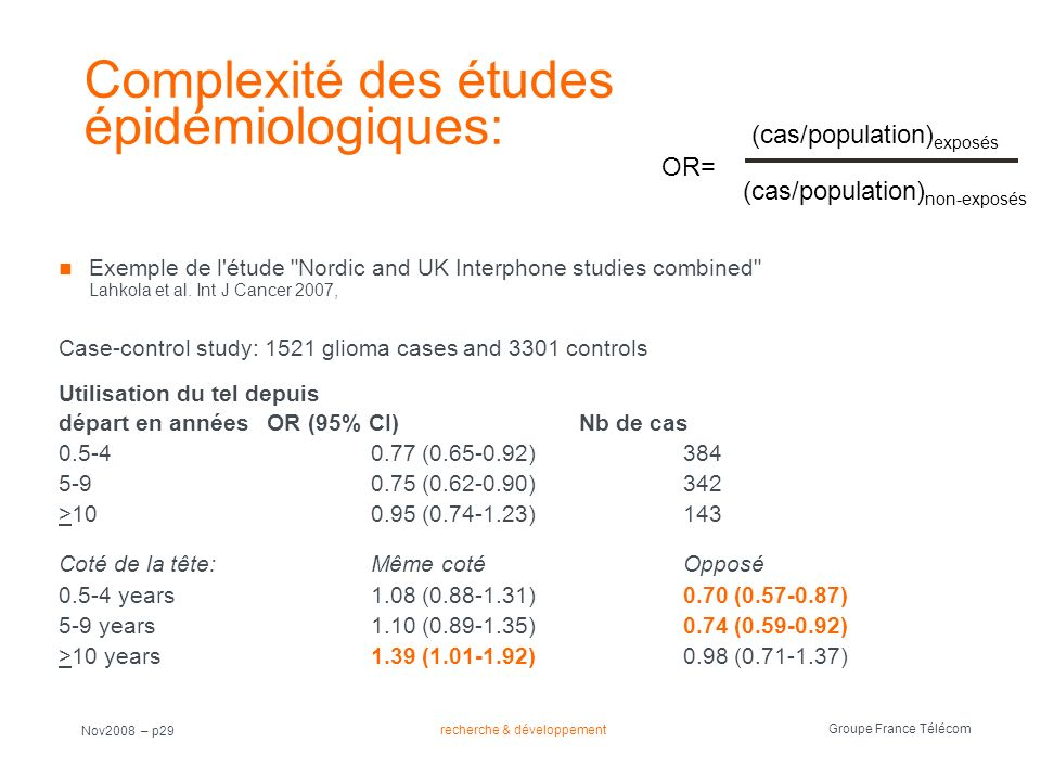 Complexité des études épidémiologiques: