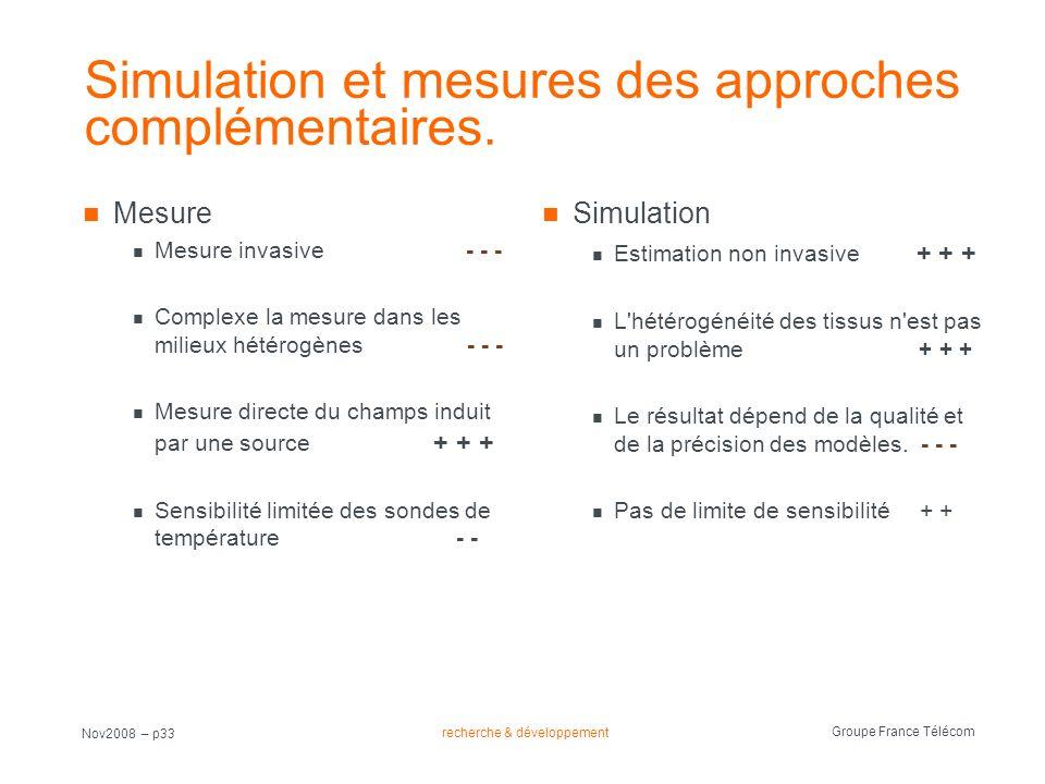Simulation et mesures des approches complémentaires.