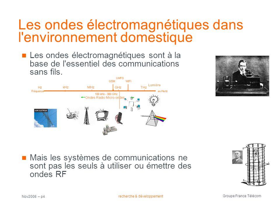 Les ondes électromagnétiques dans l environnement domestique