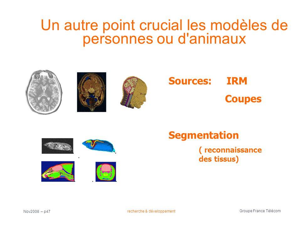 Un autre point crucial les modèles de personnes ou d animaux
