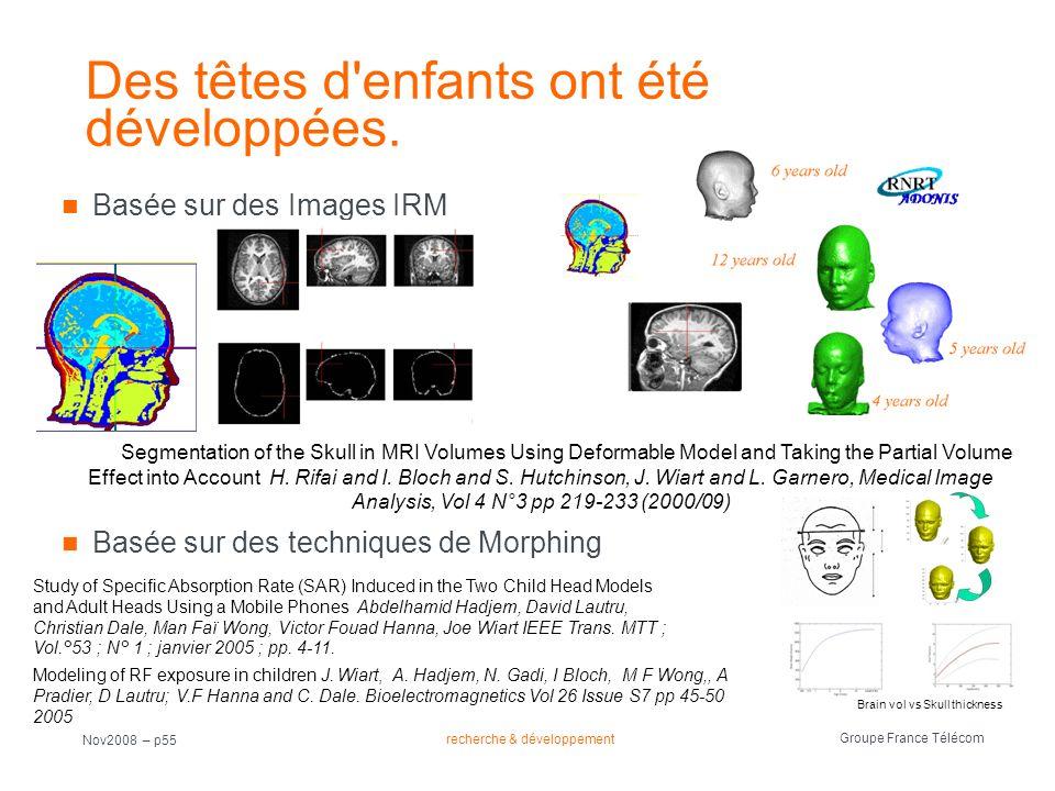 Des têtes d enfants ont été développées.